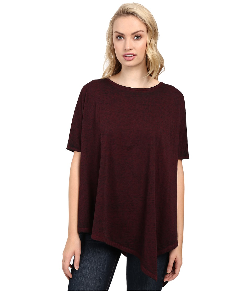 Jag Jeans Isabelle Poncho Tee Burnout Jersey (Berry) Women