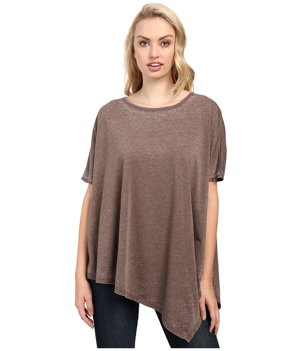Jag Jeans Isabelle Poncho Tee Burnout Jersey (Truffle) Women