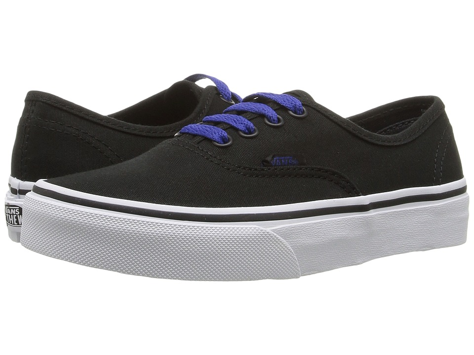 Vans Kids - Authentic (Little Kid/Big Kid) ((Pop) Black/Sodalite Blue) Boys Shoes