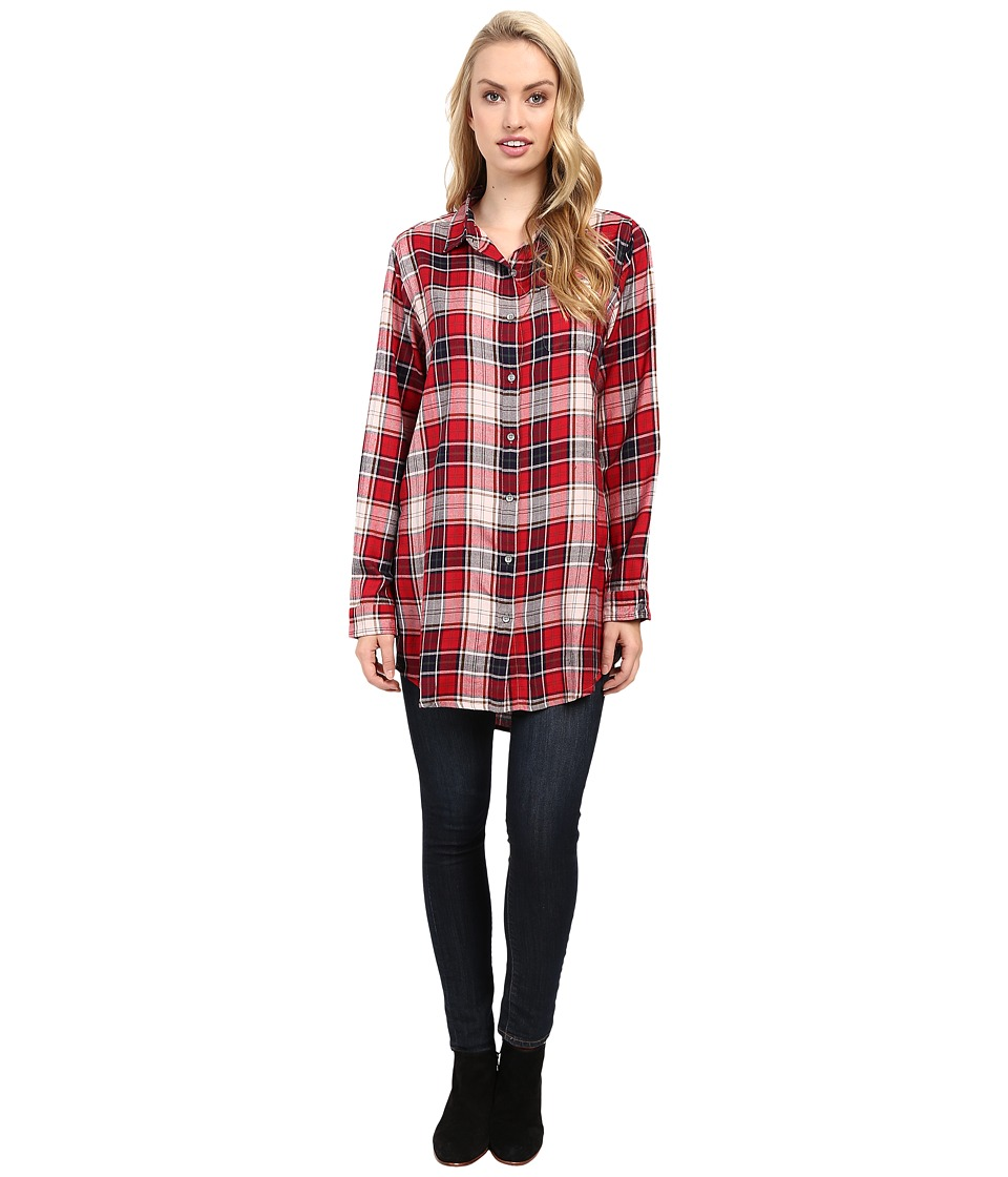 Jag Jeans - Magnolia Tunic Rayon Yd Plaid in Red Wagon (Red Wagon) Women's Clothing