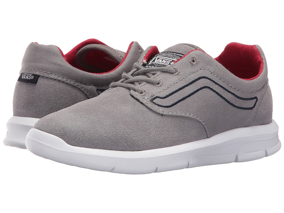Vans Kids - Iso 1.5 (Little Kid/Big Kid) ((Pop) Frost Gray/Racing Red) Boys Shoes