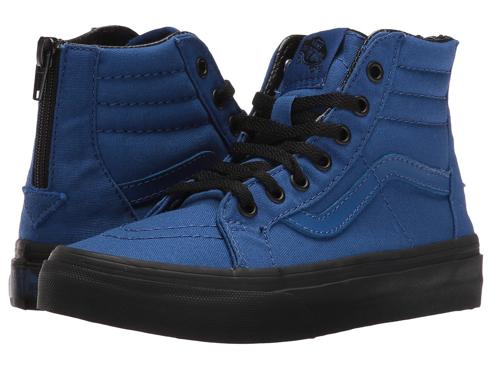 Vans Kids Sk8-Hi Zip (Little Kid/Big Kid) ((Black Outsole) True Blue/Black) Boys Shoes