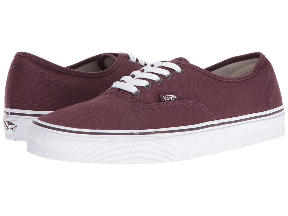 Vans - Authentic (Iron Brown/True White) Skate Shoes