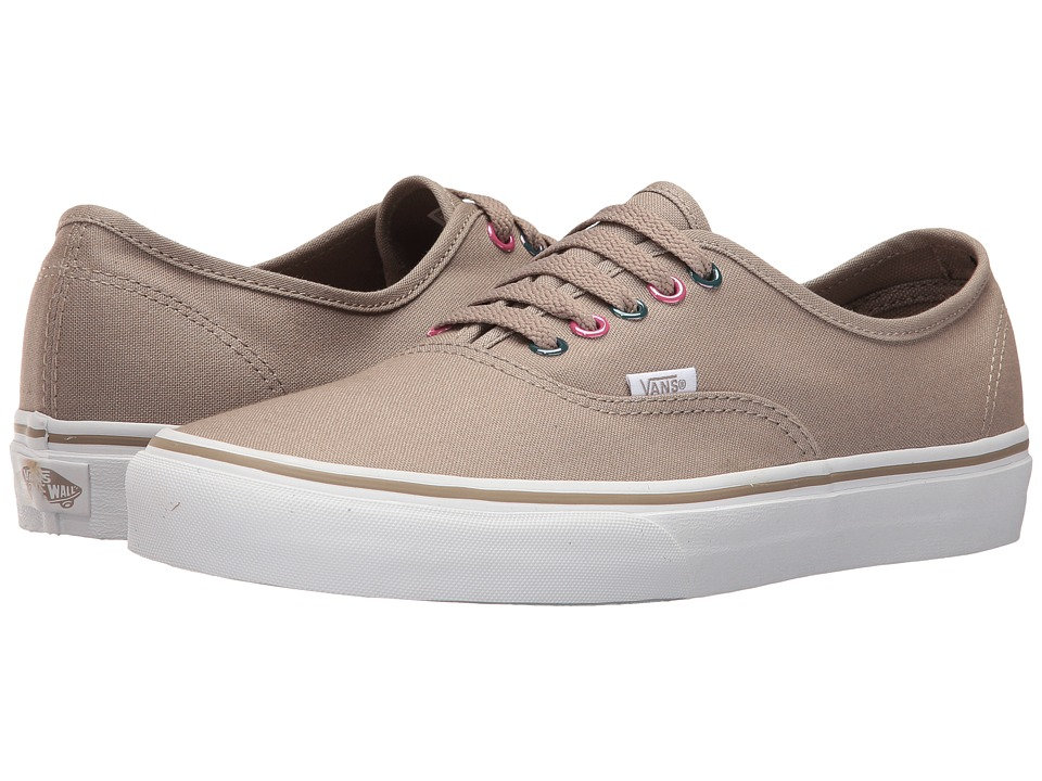Vans - Authentic ((Multi Metallic) Desert Taupe/True White) Skate Shoes