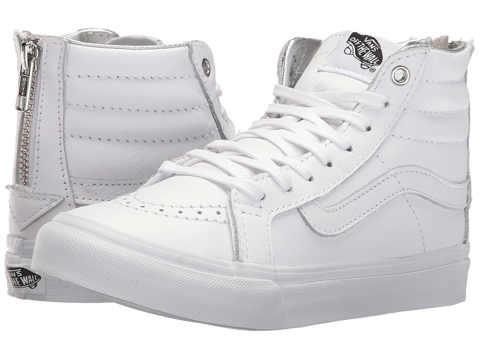 Vans - SK8-Hi Slim Zip ((Hologram) True White/True White) Skate Shoes