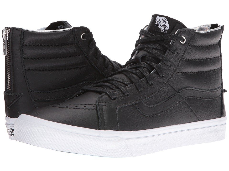 Vans - SK8-Hi Slim Zip ((Hologram) Black/True White) Skate Shoes