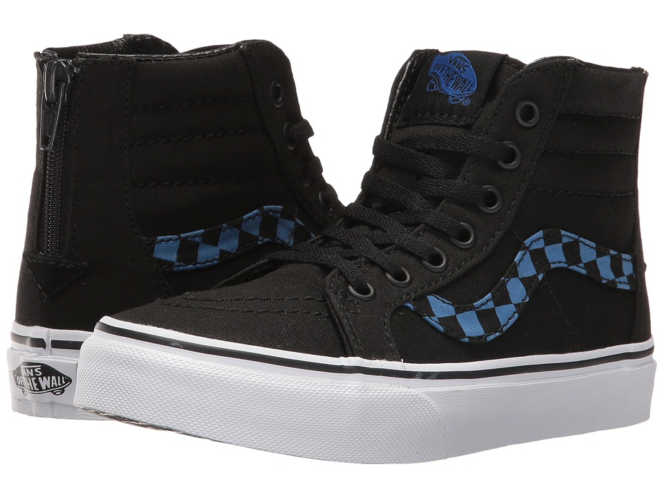 Vans Kids Sk8-Hi Zip Glow (Little Kid/Big Kid) ((Glow Check) Blue/Black) Boys Shoes