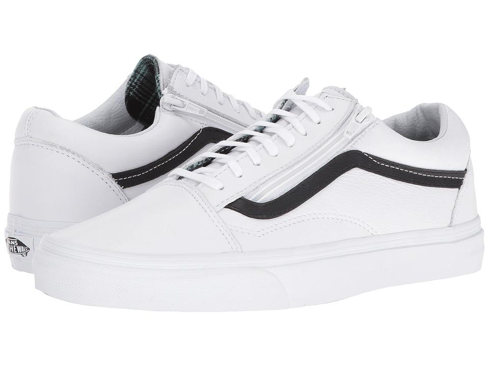 Vans - Old Skool Zip ((Plaid Flannel) Aqua Sea/True White) Lace up casual Shoes