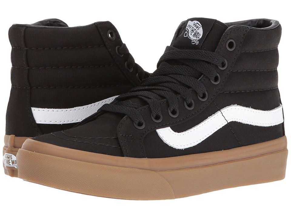 Vans - SK8-Hi Slim ((Light Gum) Black) Skate Shoes