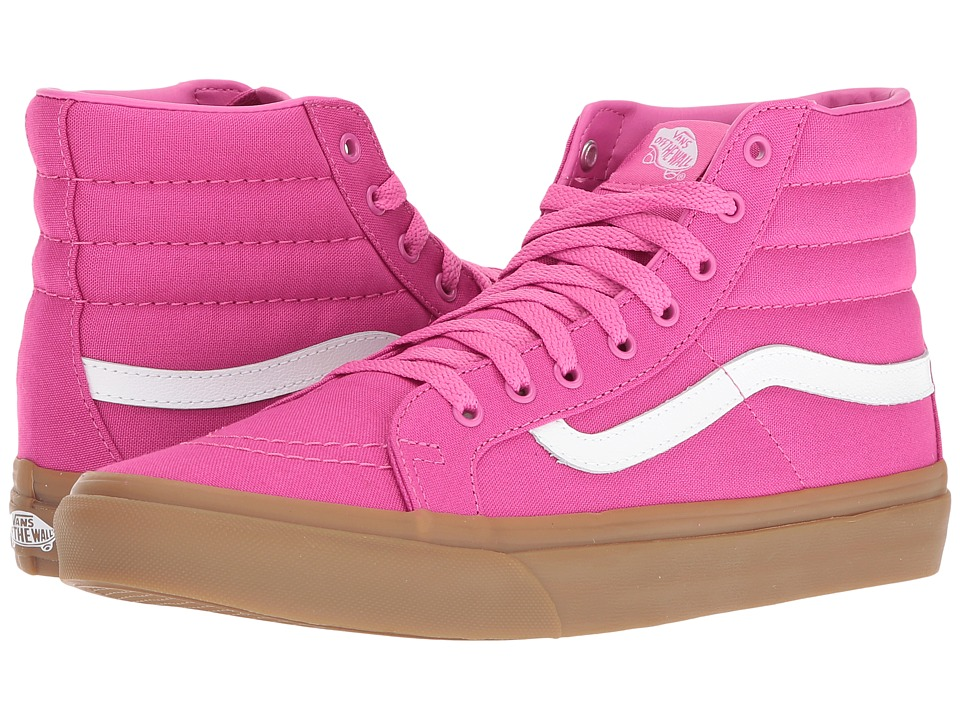 Vans - SK8-Hi Slim ((Light Gum) Raspberry Rose) Skate Shoes