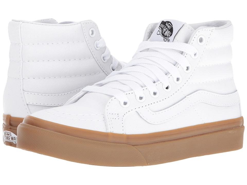 Vans - SK8-Hi Slim ((Light Gum) True White) Skate Shoes