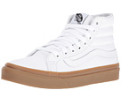 SK8-Hi Slim ((Light Gum) True White) Skate Shoes
