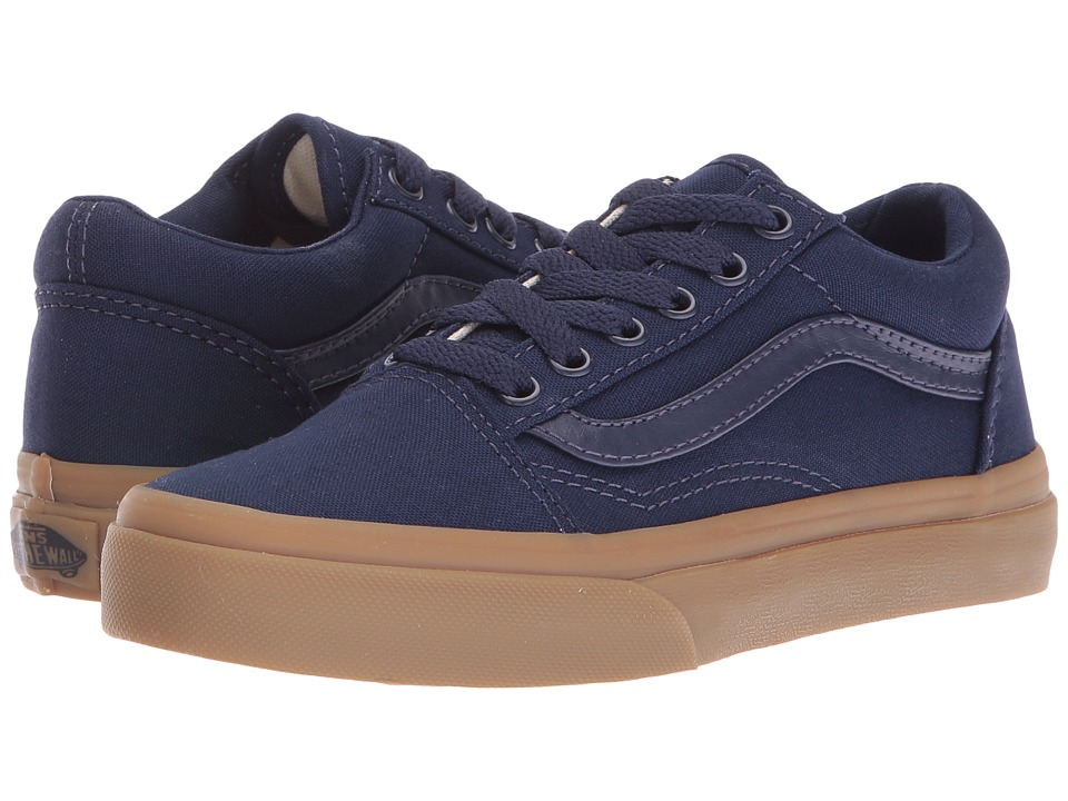 Vans Kids - Old Skool (Little Kid/Big Kid) ((Canvas Gum) Eclipse/Light Gum) Boys Shoes