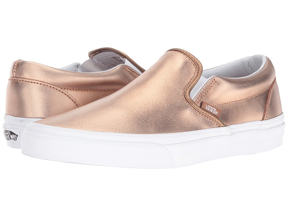 Vans - Classic Slip-On ((Metallic) Rose Gold/True White) Skate Shoes