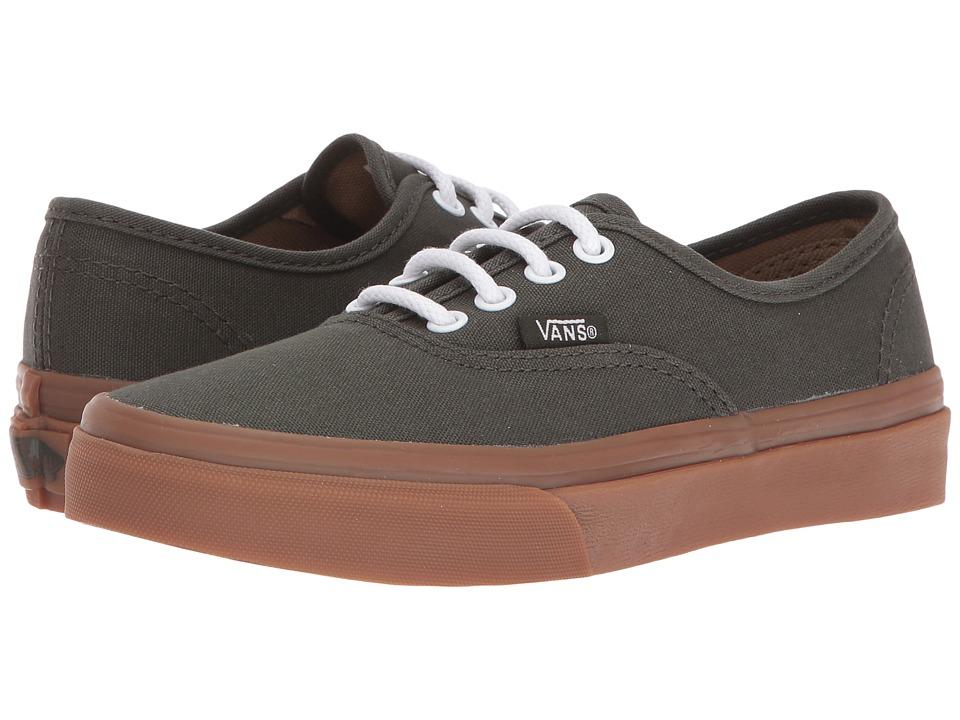 Vans Kids - Authentic (Little Kid/Big Kid) ((Gum Sole) Rosin/Light Gum) Boys Shoes
