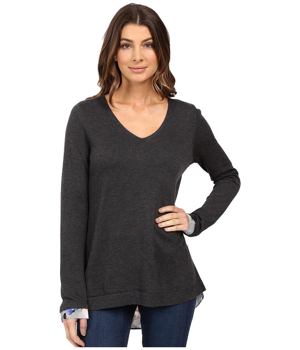 NYDJ - Key Item Mixed Media Sweater (Autumn Fields Pink Thistle) Women's Sweater