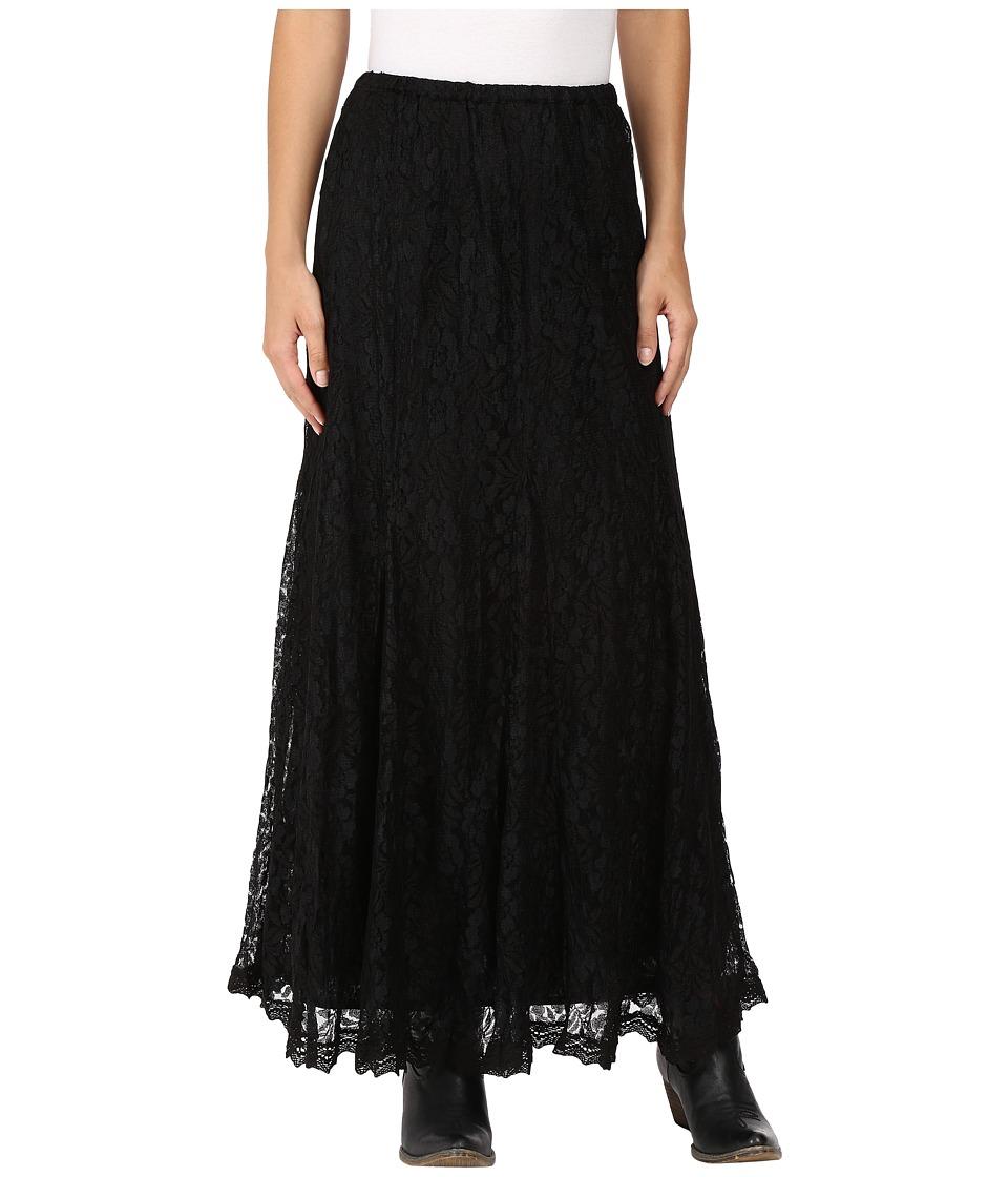 Scully - Honey Creek Sandra Lace Skirt (Black) Women's Skirt
