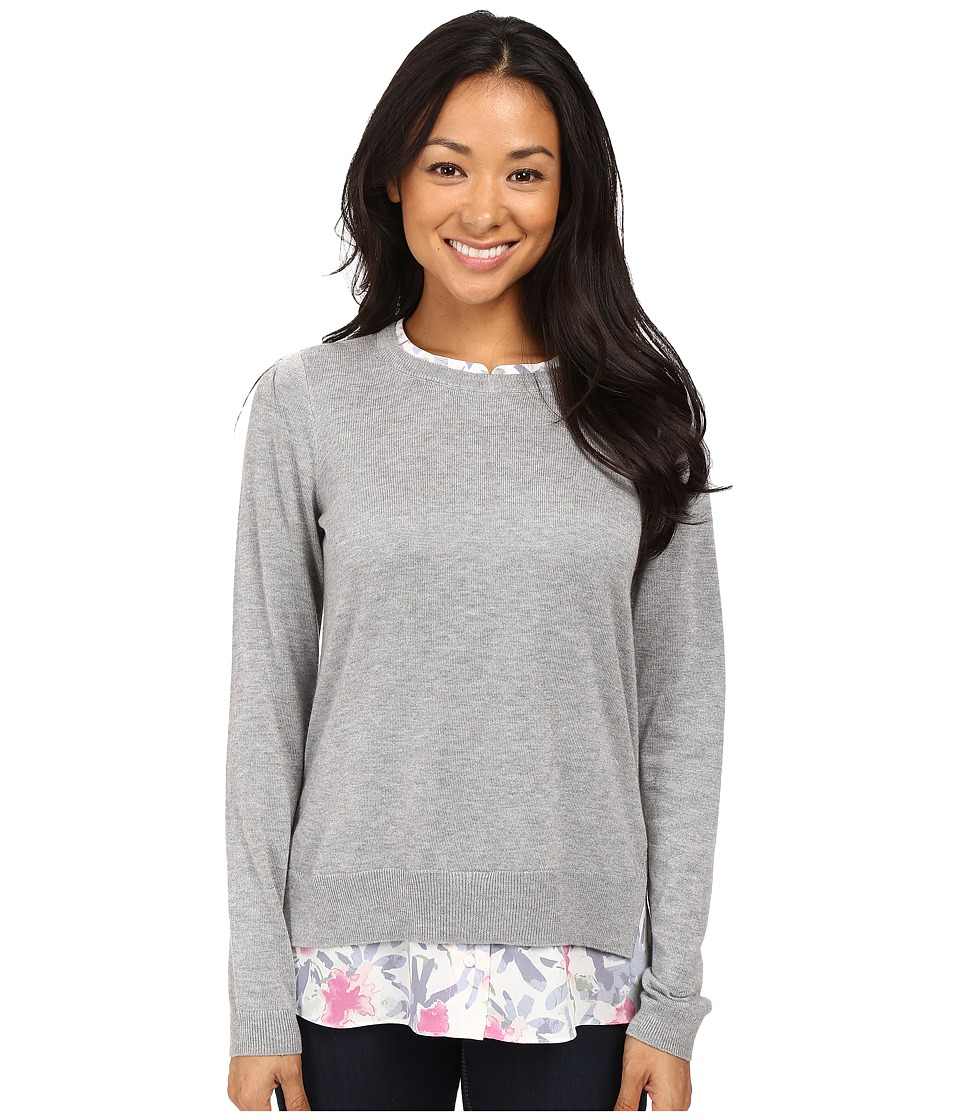 NYDJ - Key Item Mixed Media Sweater (Eliza Floral Pink Thisle) Women's Sweater