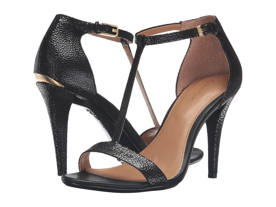 Calvin Klein - Nasi (Black Pearlized Stingray Print Leather) High Heels