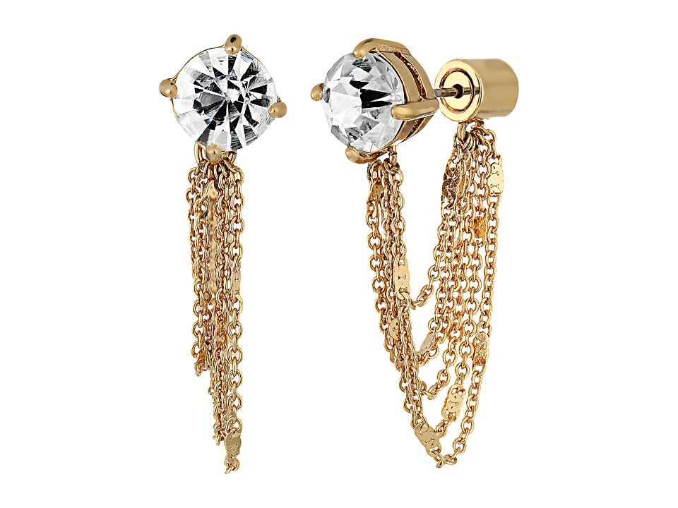 Kate Spade New York - Quartz Cascade Ear Jackets Earrings (Clear) Earring