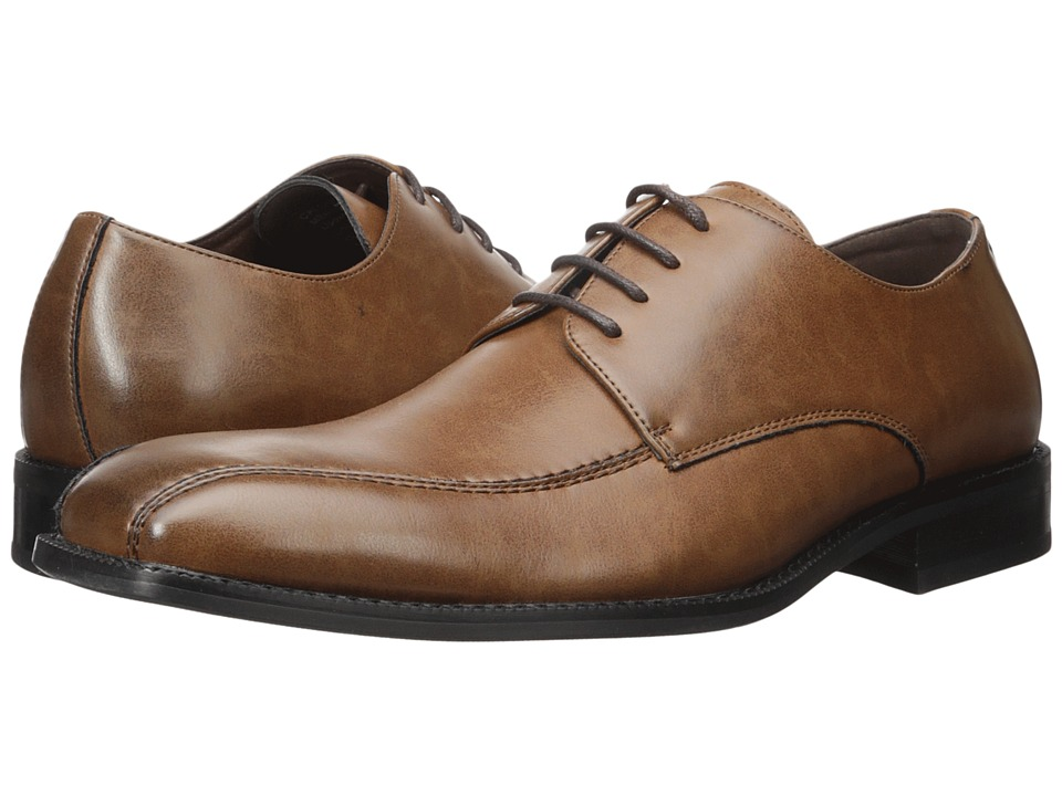 Kenneth Cole Unlisted - Calc-ulate (Cognac) Men's Lace Up Wing Tip Shoes