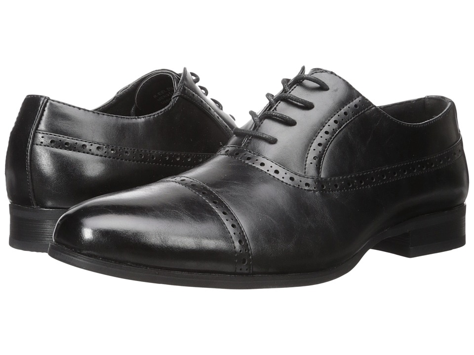 Kenneth Cole Unlisted - R-eel Strong (Black) Men's Lace Up Wing Tip Shoes