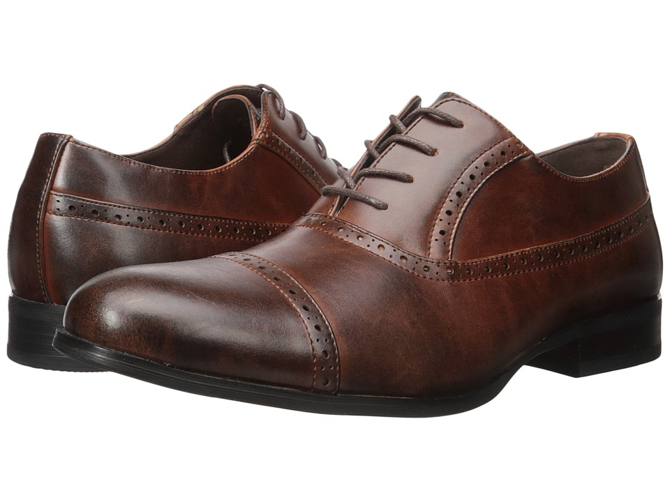 Kenneth Cole Unlisted - R-eel Strong (Brown) Men's Lace Up Wing Tip Shoes