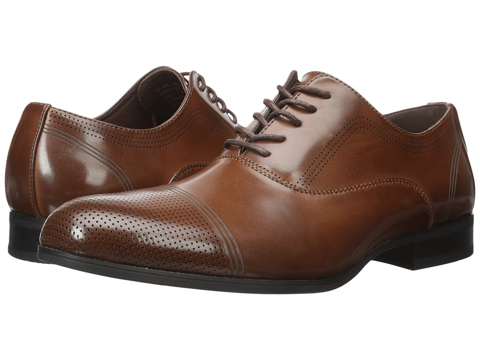 Kenneth Cole Unlisted - St-eel Home (Cognac) Men's Lace Up Wing Tip Shoes