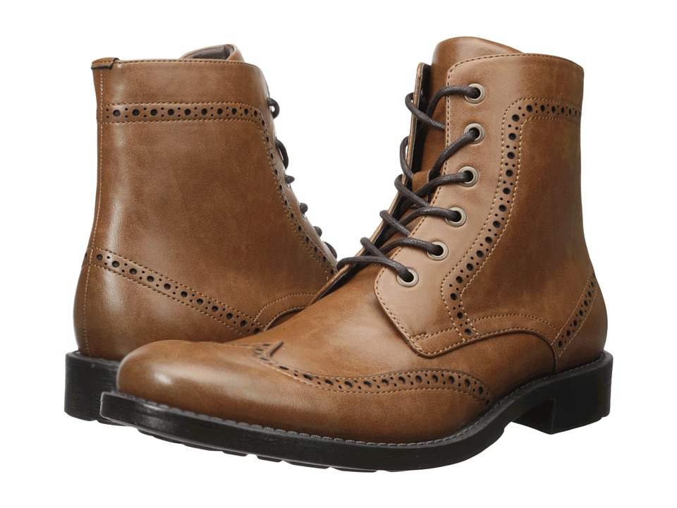 Kenneth Cole Unlisted - Blind-Sided (Cognac) Men's Lace-up Boots