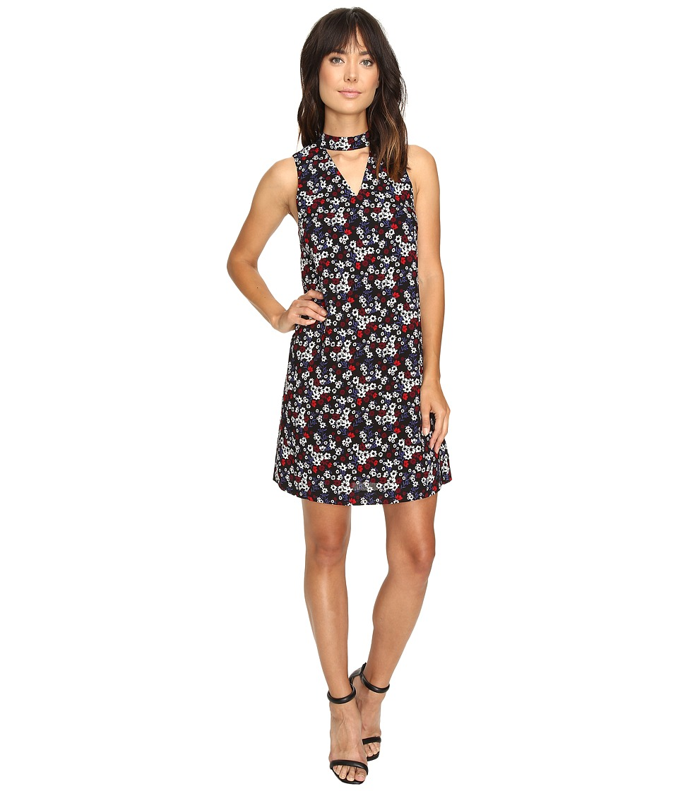 kensie Little Flowers Dress KS9K946S (Black Combo) Women