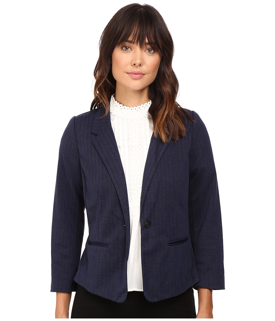 kensie - Stretch Herringbone Blazer KS9K2220 (Royal Combo) Women's Jacket