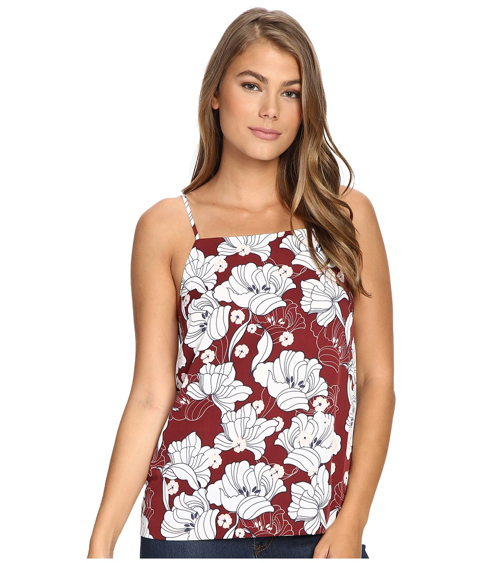 kensie - Hippy Floral Top KS9U4034 (Burgundy Spice Combo) Women's Clothing