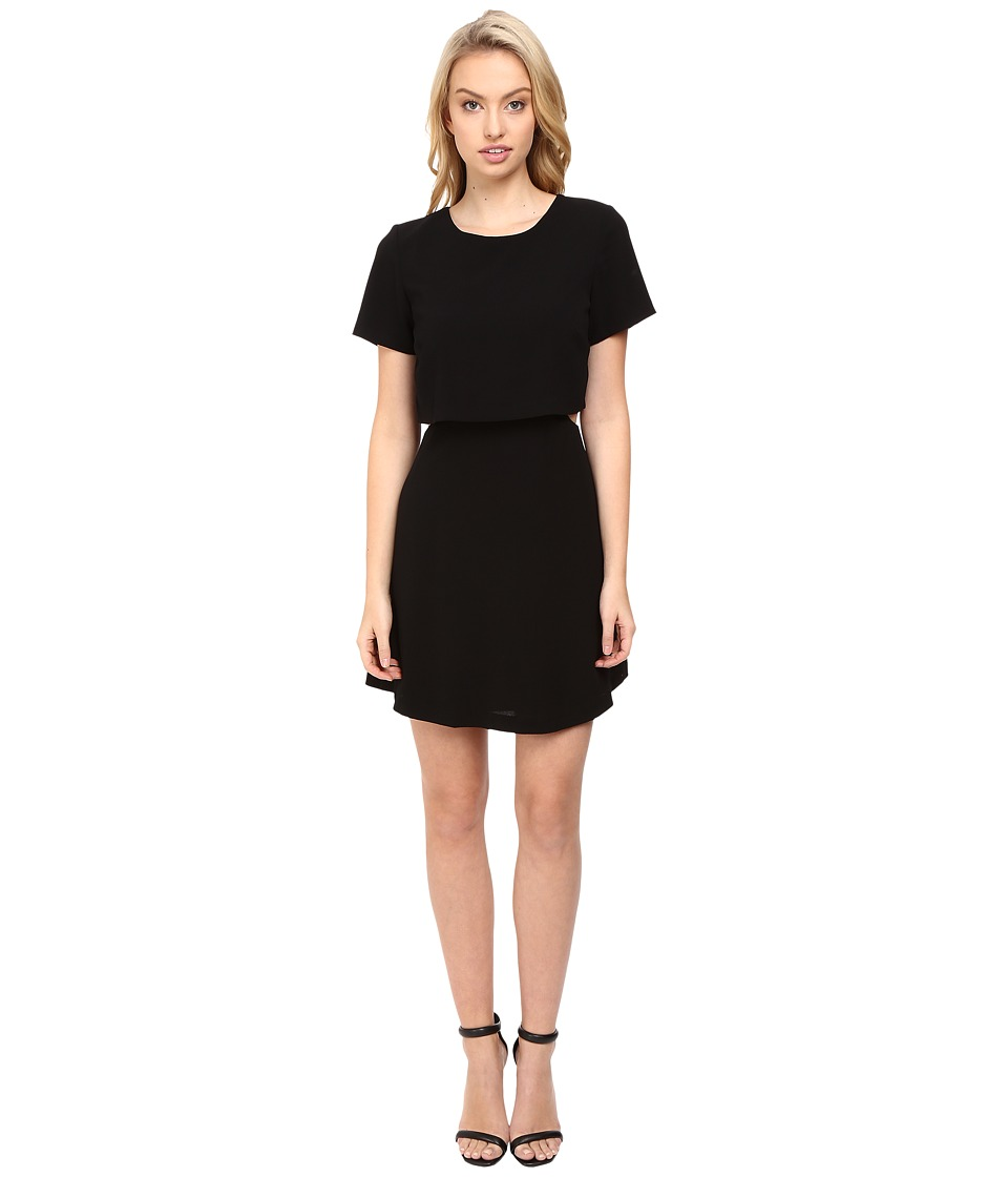 kensie Crinkle Crepe Dress KS8K7413 (Black) Women