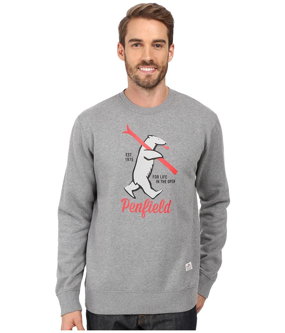 Penfield - Ski Bear Sweat (Grey) Men's Clothing