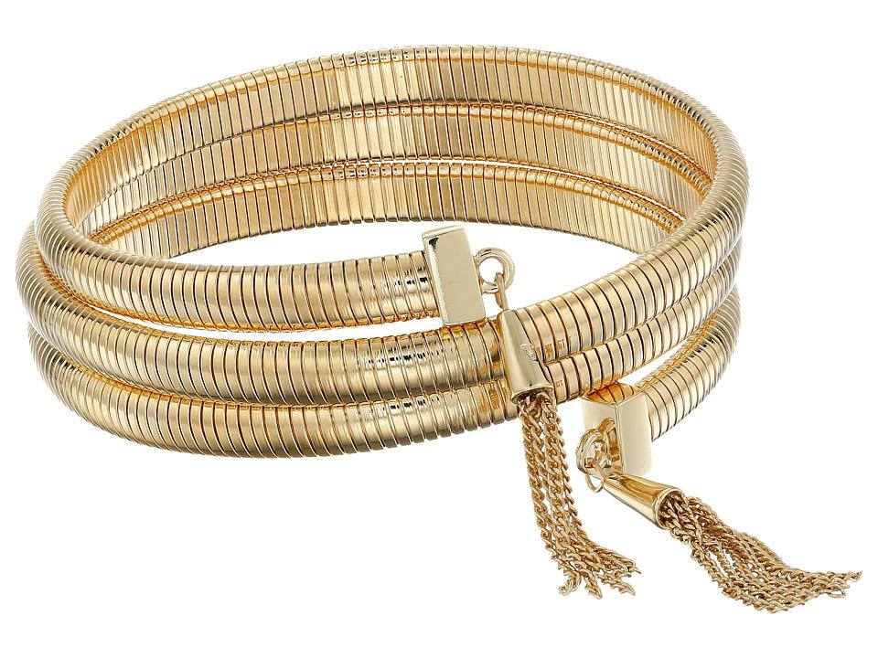 Vince Camuto - Tassel Coil Bracelet w/ Chain (Gold) Bracelet