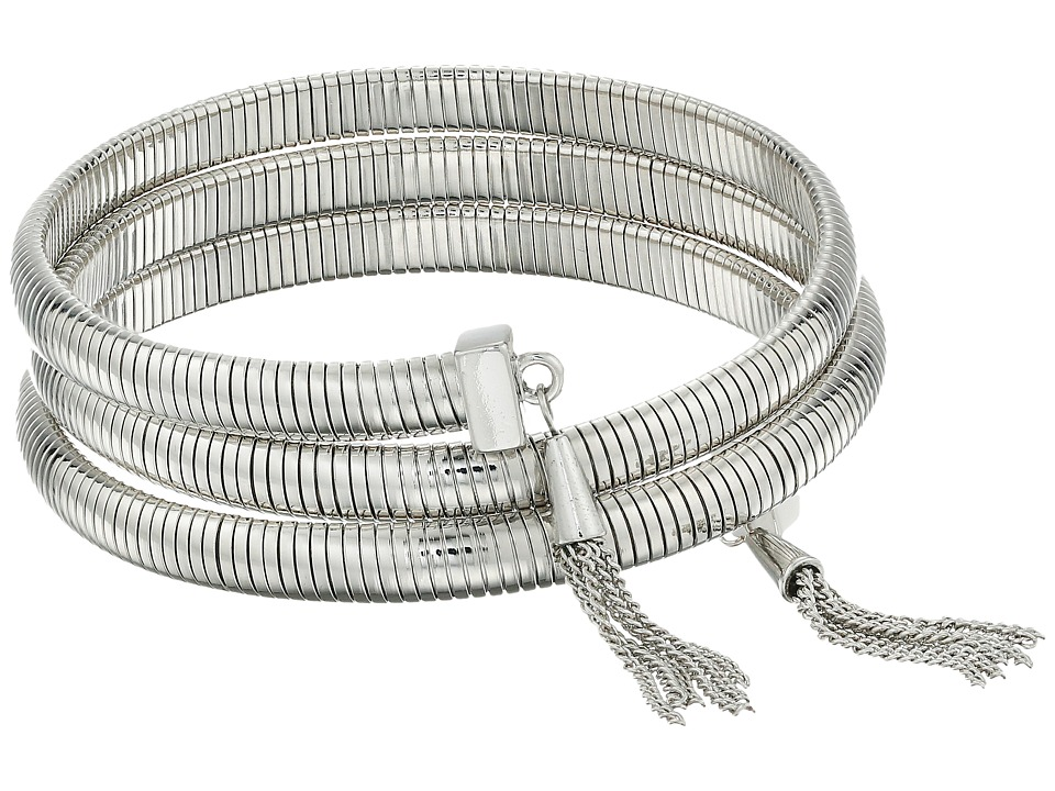 Vince Camuto - Tassel Coil Bracelet w/ Chain (Light Rhodium) Bracelet