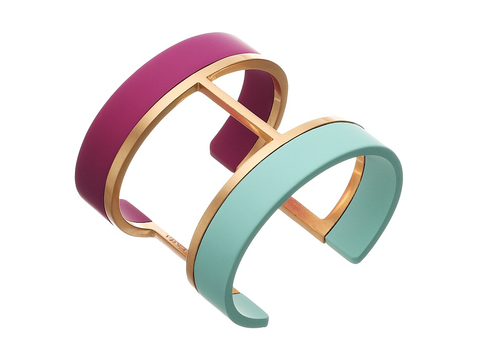 Vince Camuto - Two Color Dipped Cuff Bracelet (Burnt Rose Gold/Fuchsia/Light Blue) Bracelet
