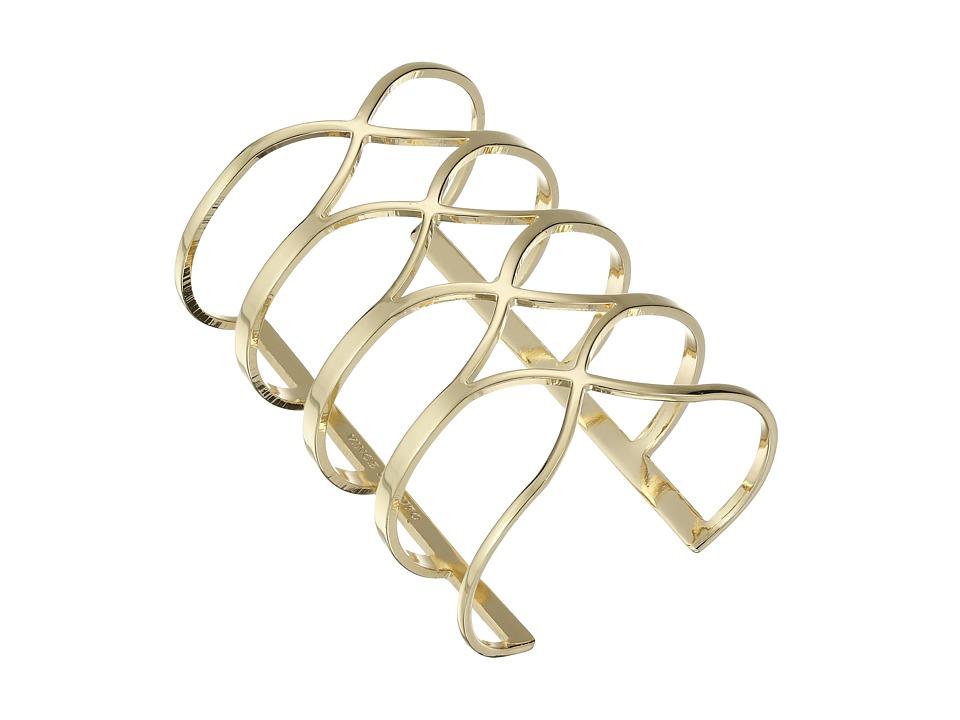 Vince Camuto - Tall Curves Statement Cuff Bracelet (Gold) Bracelet