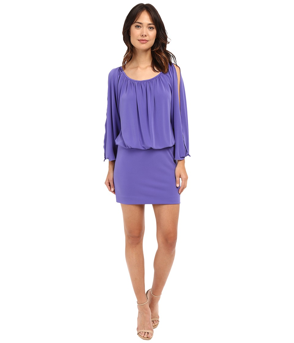 Nicole Miller Leighla Split Sleeve Blouson Dress (Violet) Women