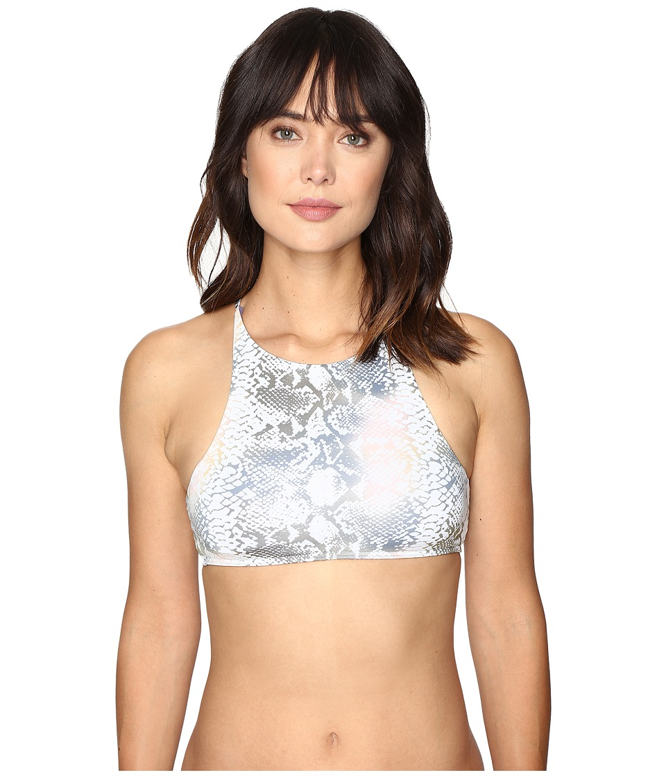 Roxy - Strappy Love Crop Bikini Top (Animalia Cream) Women's Swimwear