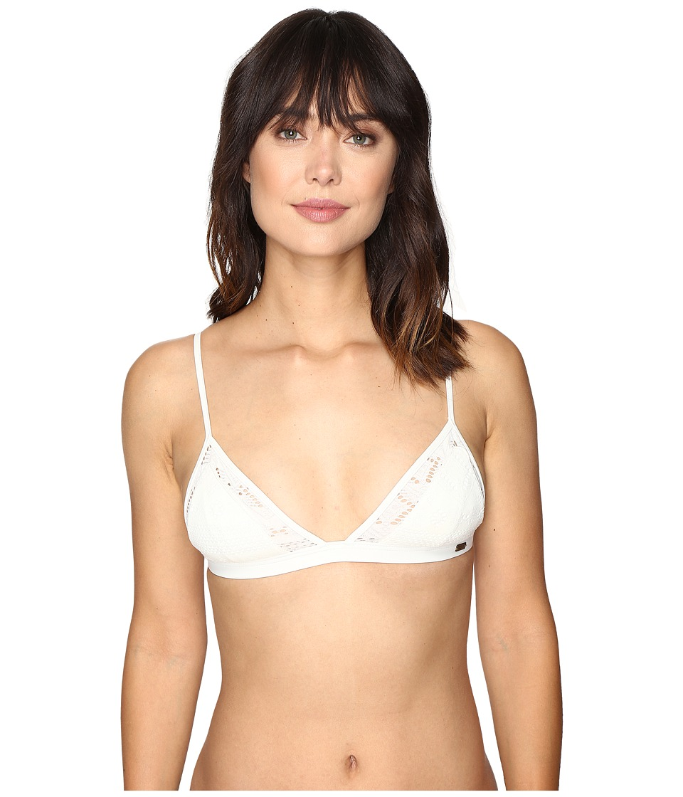 Roxy - Cozy and Soft Fixed Tri Bikini Top (Cream) Women's Swimwear