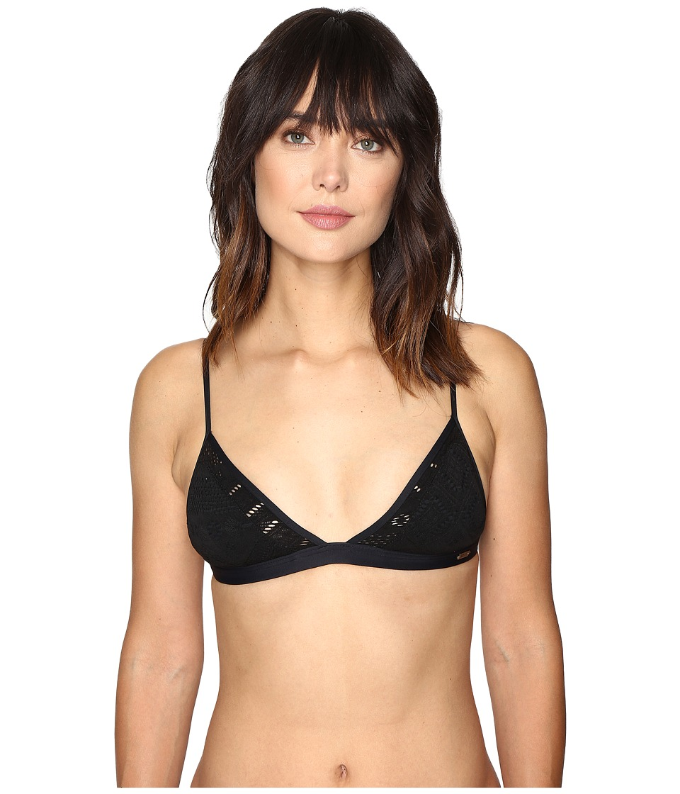 Roxy - Cozy and Soft Fixed Tri Bikini Top (True Black) Women's Swimwear