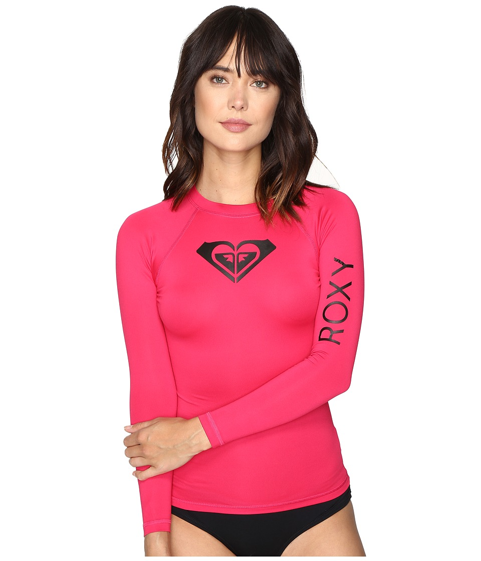 Roxy - Whole Hearted Long Sleeve Rashguard (Cherry) Women's Swimwear
