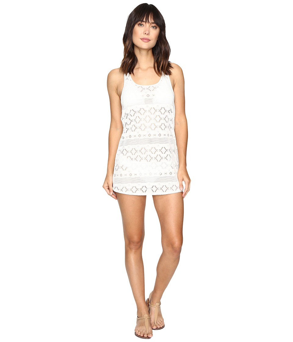Roxy - Crochet Sporty Cover-Up (Cream) Women's Swimwear