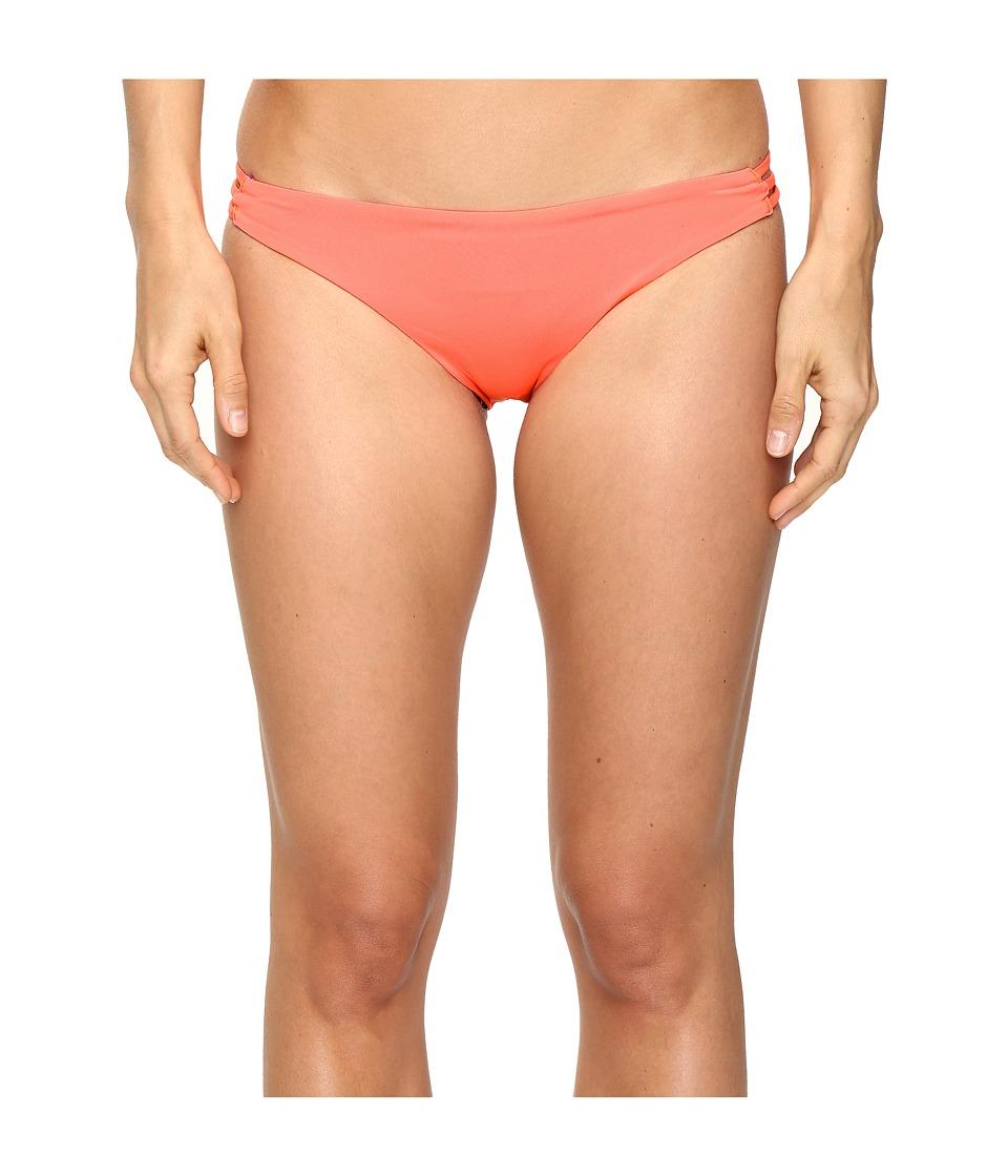 Roxy Strappy Love Surfer Bikini Bottom (Lululah Combo Neon Grapefruit) Women
