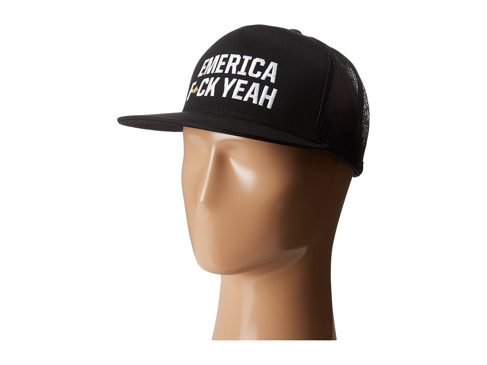 Emerica - F Yeah Trucker Hat (Black) Caps