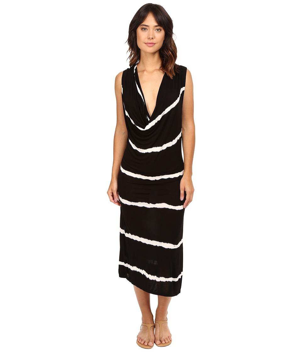 The Beginning Of - Queens Cowl Neck Dress (Black Colorway) Women's Dress
