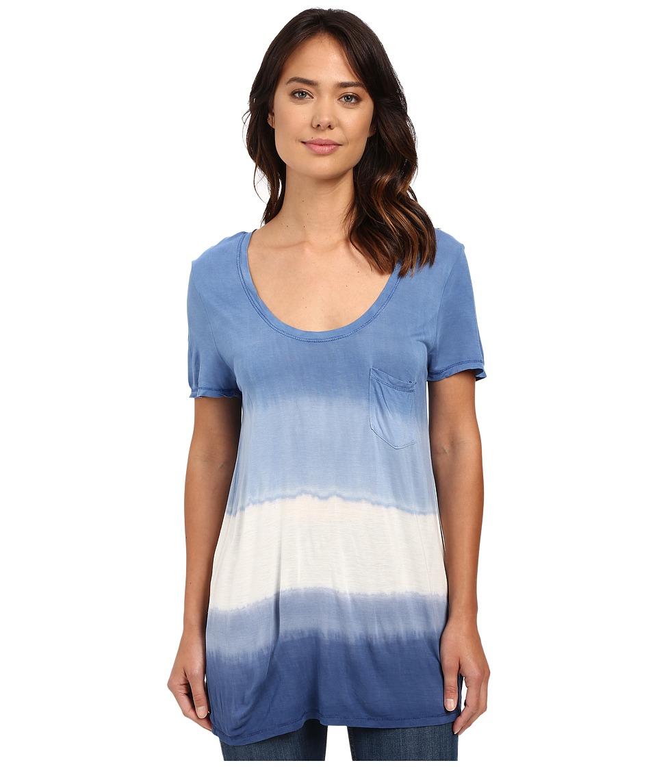 The Beginning Of - Wisteria Pocket Dip-Dye Tee (Indigo Colorway) Women's T Shirt