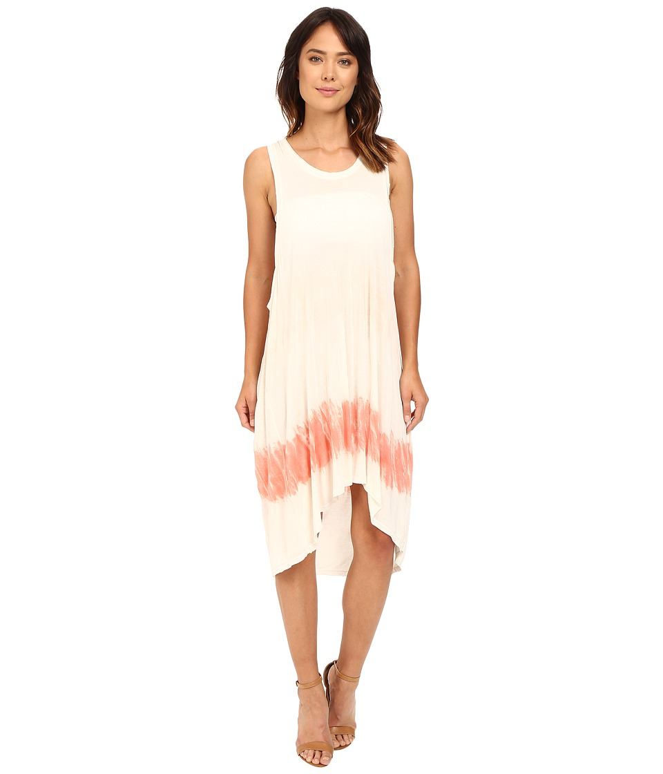 The Beginning Of - Chamarel Dip-Dye Dress (Coral Colorway) Women's Dress