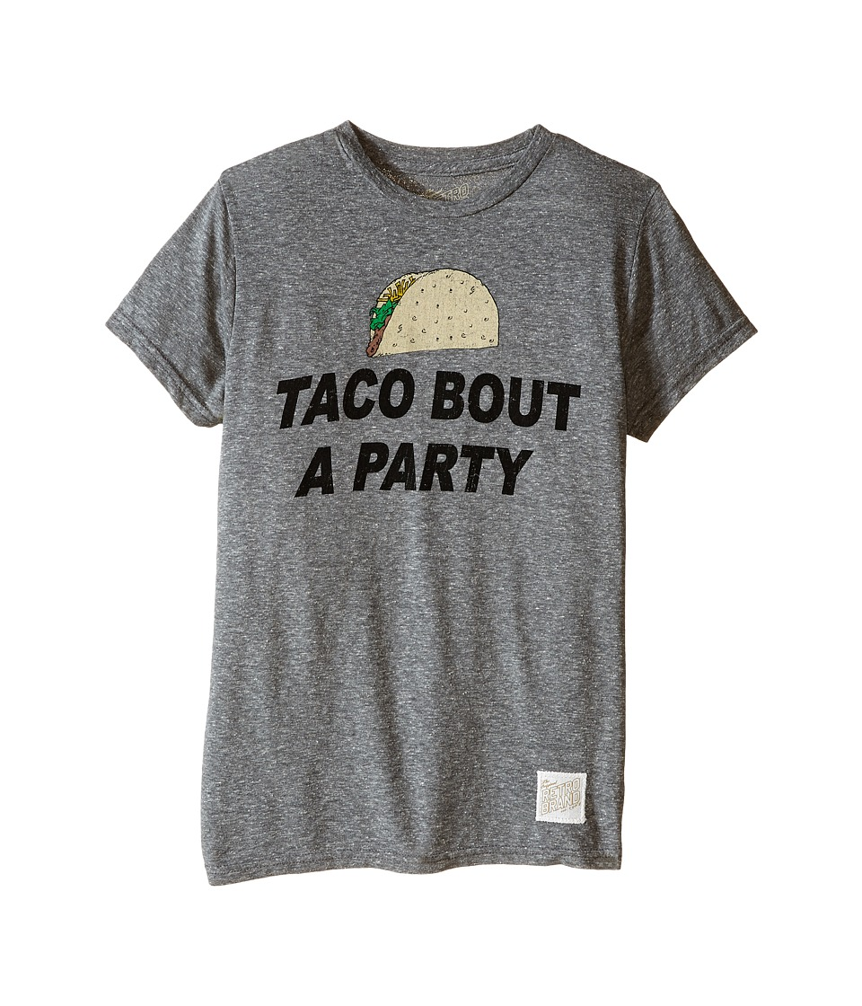 The Original Retro Brand Kids - Taco Bout a Party Tri-Blend Tee (Little Kids/Big Kids) (Streaky Grey) Boy's T Shirt